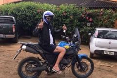 Hospedes com suas motos na Pousada Villa Nakara4