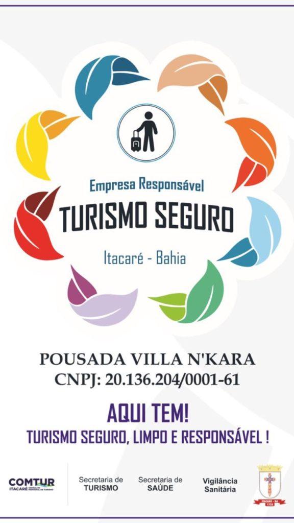 Turismo seguro - Pousada Villa N'Kara